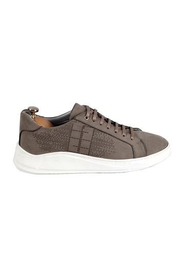 Tripy Hakiki Deri Sneakers Gri